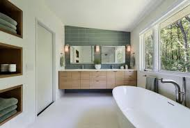 white and green wall with brown wooden cabinets white ceramic
