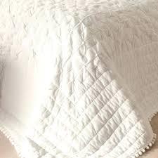 jeté de canapé blanc jete de lit blanc ancien dessus de lit coton fait lit 2places