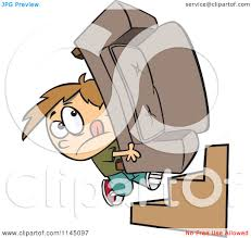 Couch Cartoon Cartoon Of A Mover Boy Carrying A Couch Up Stairs Royalty Free
