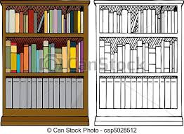 Full Bookcase Vector Illustration Of A Full Bookshelf Various Kinds Of Blank