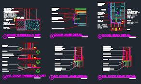 Window Sill Detail Cad Door Head Jamb U0026 Threshold Detail Cmu Exterior Cad Files Dwg
