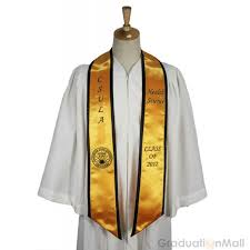 personalized graduation stoles custom honor stole with trim plain end