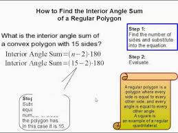 Interior Angles Of Polygon How To Find The Sum Of The Interior Angles Of A Regular Polygon