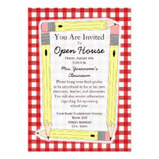 open house invitations elementary school open house invitations announcements zazzle