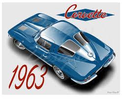 corvette stingray split window for sale corvette 1963 split window print for sale email sturgess1313