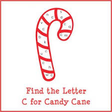find the letter c for candy cane free printable gift of curiosity