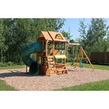 amazon com big backyard summerlin retreat wooden swing set by