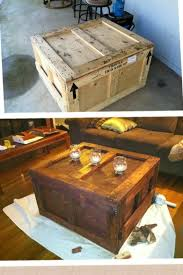 shipping crate coffee table shipping crate into end table or tv entertainment center
