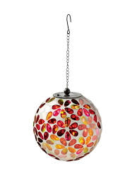 Glow In The Dark Gazing Ball Solar Mosaic Hanging Ball Mosaic Glass Gardeners Com
