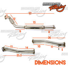 nissan 350z quad tip fits 03 09 nissan 350z z33 350gt stainless steel dual exhaust