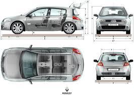 renault megane 2005 sedan 3dcars automotive creation trk u0027s portfolio