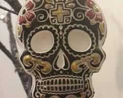 decorative skulls etsy