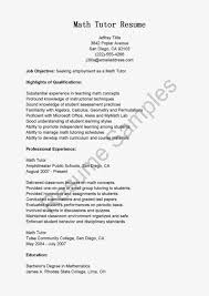 cover letter math teacher online math tutor cover letter