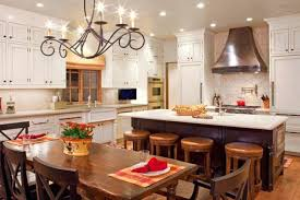 Light Fixtures For Kitchen Inspiring Light Fixture For Kitchen Table Using Wrought Iron