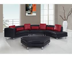 g919 black red sectional sofa