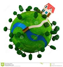 House Planet by Little Green Planet With Toy House Stock Photography Image