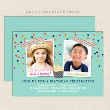 joint birthday party invitations u2013 lil u0027 sprout greetings