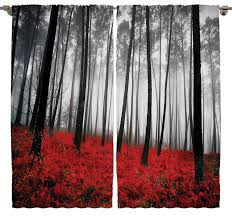 amazon com mystic forest digital photography print curtains home
