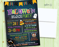 halloween neighborhood background halloween party invitation halloween block party invite kids