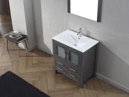 virtu usa dior 30 single bathroom vanity set in zebra grey
