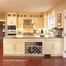 cuisine merisier armoires de cuisine contemporain merisier bois massif idée de