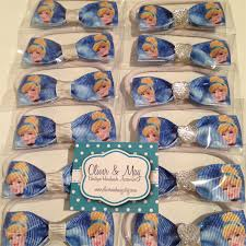 cinderella party favors 10x cinderella birthday party favors hair bow elastic ties plain