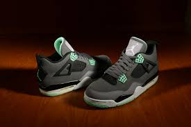 green glow 4 air retro 4 green glow footaction club