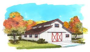 Two Story Barn Plans Ranchette Barn Pole Barn U0026 Small Cattle Barn Plans By Bgs