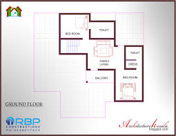 architecture kerala 5 bedroom house plan and its elevation in