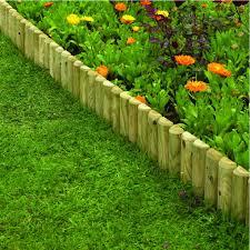 wood garden border edging