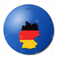 Germany On Map by Germany Map Flag On Abstract Globe Illustration Stock Photo