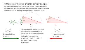 Cross Multiplication Worksheets Pythagorean Theorem Proof By Similar Triangles Geogebra