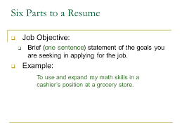 Resume Job Objective Samples by Writing A Resume Ppt Download