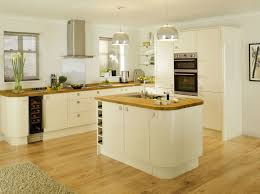 high gloss cream kitchen cabinets