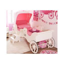 girls princess carriage bed carriage single bed color milky white