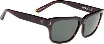 spy tele sunglasses dark tort happy gray green lens free shipping