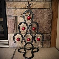 horseshoe christmas tree rustic horseshoe christmas tree small back home country acres
