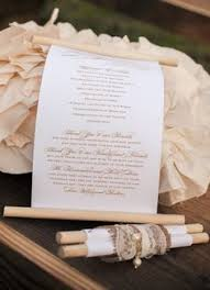 scroll wedding programs creative and unique wedding programs that we adore