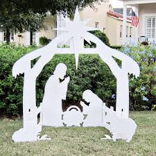 how to decorate the outdoor nativity set home interior plans ideas