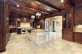 Tile Flooring Ideas Countertops Backsplash Brass Kitchen Faucet Tile Floor