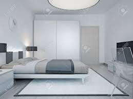 modern hotel room design room with luxury bed black lamp