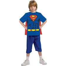 Superman Halloween Costumes Adults Superman Shirt Cape Child Halloween Costume Walmart
