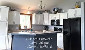 Kitchen Cabinet Repurpose DIY Valspar Cabinet Enamel Mysite - Enamel kitchen cabinets