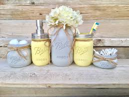 Grey And Yellow Bathroom by Yellow And Grey Bathroom Decor Yellow And Gray Mason Jar Bath