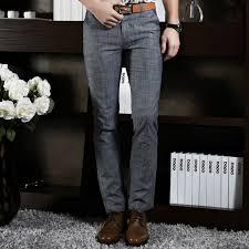 2017 formal wedding men suit pants fashion slim fit casual brand