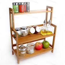 portaspezie legno casa e giardino di bambù legno di stoccaggio mensola della cucina