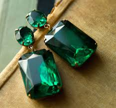 emerald green earrings earrings large emerald green earrings estate