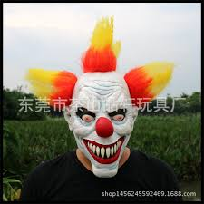 Pennywise Halloween Costume Grade Funny Party Evil Circus Clown Mask Pennywise Halloween
