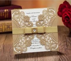 fancy invitations fancy golden lace wedding invitation with ribbon bow golden and