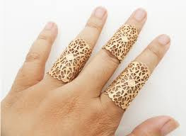gold hand rings images Matte gold filigree ring set jpg